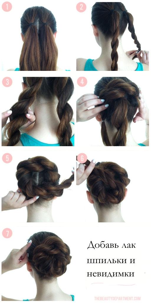 Как быстро сделать пучок на длинные волосы